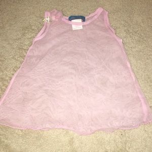 Kate Mack Designer Pink Sheer Swim Cover-Up
